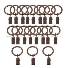 20pcs Iron Curtain Rings Clips Hanging Curtain Net Rings Curtain Wire Red Bronze
