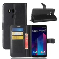 Cartera De Bolsillo Negro Premium para HTC U11 Estuche Cubierta