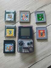 Game Boy Color Transparent inkl. 6 Spiele - Retro