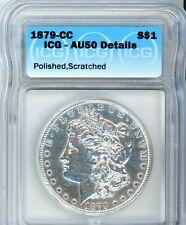 "1879-CC Morgan Silver Dollar CERTIFIED ICG AU50 CARSON CITY VAM 3 CAPPED ""CC"""