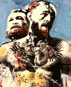 Ronald Chapeau Acrylic on paper Hand signed Original Conor McGregor