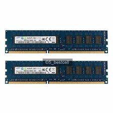 DDR3 16GB 2x8GB Samsung 2RX8 1600MHz PC3-12800E 240pin ECC Memory Unbuffered