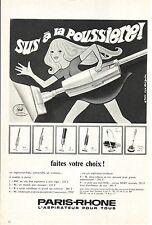 PUBLICITE ADVERTISING 1968 014 PARIS RHONE l'aspirateur pour tous