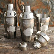 Cocktail Shaker w/Pewter Medallion - Personalized - Engraved Gifts for Groomsmen