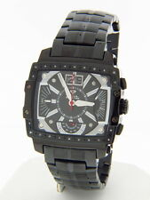 Aqua Master Men's W#329-3 Black With Gold Accents Stainless Steel Quartz Watch