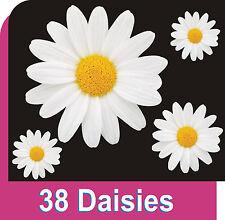 38 Blanco calcomanías de la flor de la Margarita Automóvil Pegatinas de Pared decoraciones de ventana de gráficos