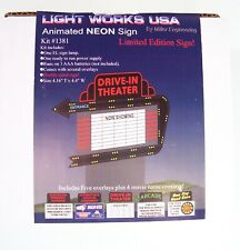 Light Works Usa by Miller Engineering 1381 Drive-In Sign Animated Neon Sign Nib