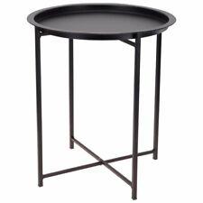 ORION Couchtisch Beistelltisch METALL schwarz modern rund LOFT