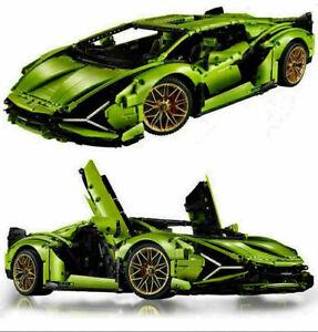 Custom Technic Lamborghini Sian Compatible with LEGO 42115 42083 42125 Free Ship