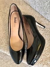 Bellissimo Shoes Size 5 Women's Black Leather Ladies Courts Patent Worn Once