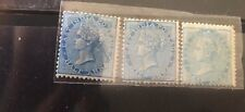 Nice  collection of 3 mint 1/2 anna East India company Victoria stamps of 1865