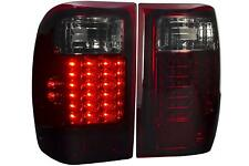 93-97 98-99 Ford Ranger Smoked Red Lens Led Tail Lights Lamp Replacement Pairs
