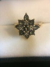 10 Kt. Yellow Gold Mystic Topaz and CZ Women's Fashion Ring 2.7 Grams