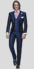 Men Wedding suit stylish Blue Dinner suit with waistcoat (Jacket+Pant+Waistcoat)