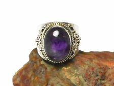 AMETHYST   Sterling  Silver  925  Gemstone  RING   -  Size: N  -  Gift Boxed!