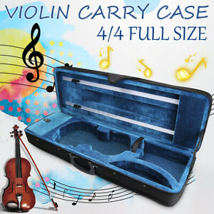 Violin Hard Case Full Size 4/4 Professional Oblong Shape Cushioning Carry Box AU