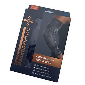 Tommie Copper Sport Compression Arm Sleeve Size L XL Black Camo NEW