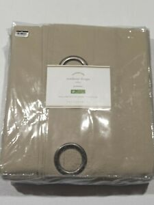 "Pottery Barn Outdoor Grommet Curtain - Stone - Size: 50""x108"" - GallyHo"