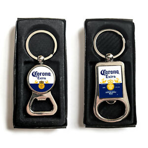 Corona Extra Beer Lager Fathers Day Dad Gift Box Keyring Keychain Bottle Opener