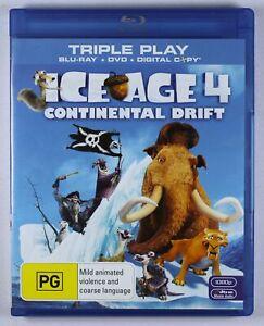 Ice Age 4 Continental Drift Blu Ray FREE POST