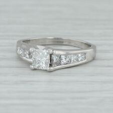 1.28ctw Anillo de Compromiso Diamante - Platino Tamaño 6.5 Princesa Solitario