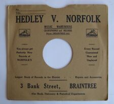 10-inch printed card record sleeve (78s)