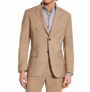 Tasso Elba Men Sport Coat Melange Beige Size Large L Two-Button Stretch $119 005