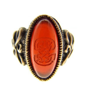 Jean Paul Gaultier ring Silver Red Woman Authentic Used R206