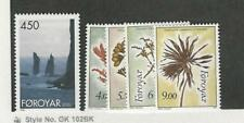 Faroe Islands, Postage Stamp, #295-299 Mint NH, 1996 Flowers