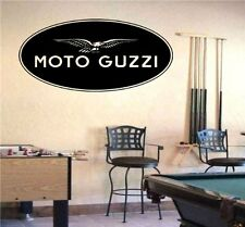 Moto Guzzi Moto Bikes Biker Speed Track Wall Art Decal Sticker 5656