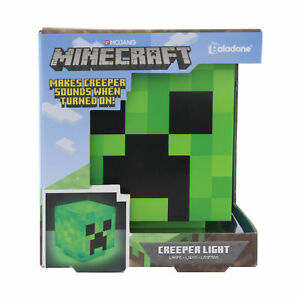 Minecraft 3D Creeper Light Collectable Pixelated Cube Makes Creeper Sound