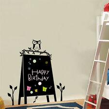 Blackboard Wall Sticker Owl Bedroom Kitchen Chalkboard Memo Decoration New Decal