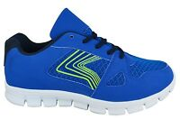 MENS RUNNING LIGHTWEIGHT TRAINERS CASUAL LACE GYM WALKING BOYS SPORTS SHOES SIZE