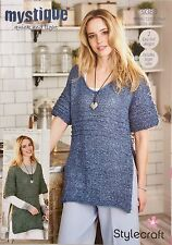 Stylecraft 9380 Knitting Pattern quick and light- Tops in Mystique