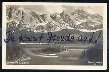092P   Ansichtskarte  AK   Eibsee mit  Zugspitze