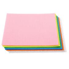 A4 23x30cm Felt Pack 10 Sheets Assorted Multi Colors Children Kids Art Craft DIY
