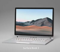 "New Microsoft Surface Book 3 13.5"" 512GB i7-1065G7 1.3GHz 32GB GTX 1650 Laptop"