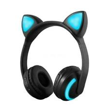 Bluetooth Foldable LED Cat Ear Stereo Gaming Headset Wireless Headphone MIC
