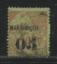 1888 French colonies MARTINIQUE 05 on 20 centime issue used, Yvert # 4, $ 20.00