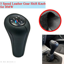 High Quality 5 Speed Car Gear Shift Knob Shifter Real Leather For BMW M Sport