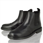Boys Kids Infants Real Leather Chelsea Dealer Ankle Brogue Tan Boots Shoes Size