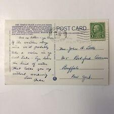 1930 Old Car Street Scene  Salt Lake City Utah 1932 Posted Postcard