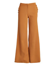 Wide Leg Trousers Size UK 12 Ladies Womens Rust with Side Buttons BNWT #B-401