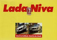 Lada Niva Prospekt 1983 9/83 Autoprospekt brochure prospectus prospecto catalog