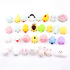 Cute Squishy Mini Animal Soft Silicone Toy Fidget Hand Squeeze Pinch Toy 10pcs