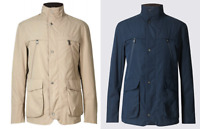 M&S Mens Nutmeg Lightweight Tailored Fit Jacket With Stormwear Technology