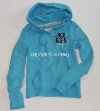 NWT HOLLISTER by Abercrombie Womens Vintage Hoodie Sweatshirt Turquoise L