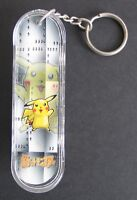 Vintage NOS Mini Skateboard Keychain Pokemon Fingerboard Deck Card Cards Pikachu