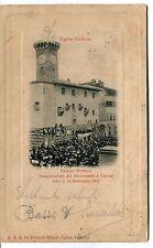 1904 Figline Valdarno Palazzo Pretorio Monumento timbri Firenze FP B/N VG ANIM