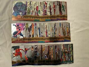 1995 Fleer Marvel Metal Trading Card Silver Flasher Parallel Chase Set of 137